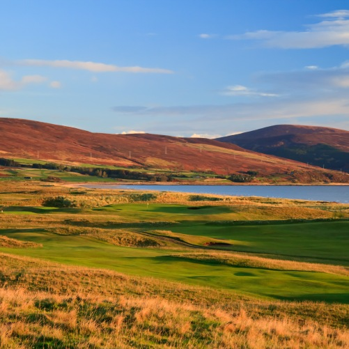 Brora Golf Club The 17th fairway and 2nd green
