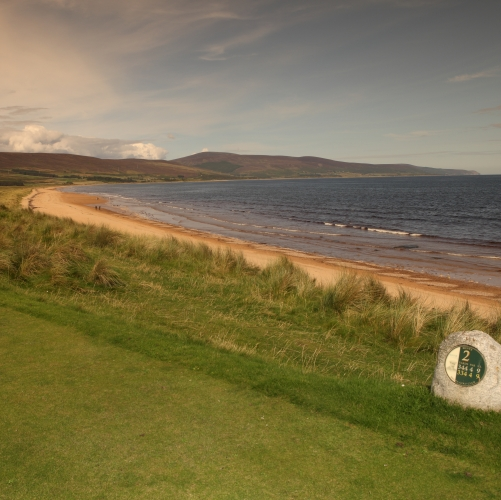 Brora Golf Club hole 2, Bents