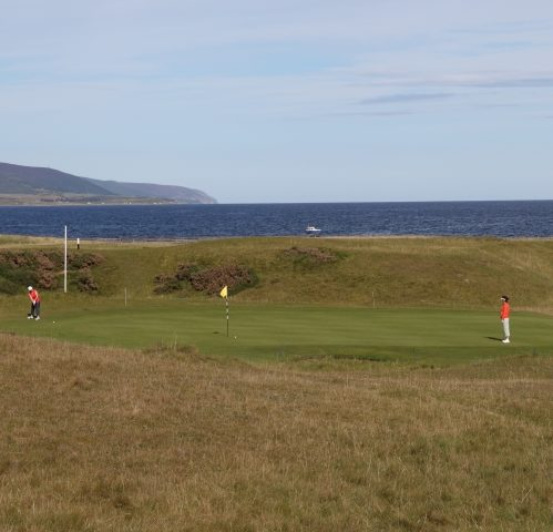 Brora Golf Club - Hole 4 White Post